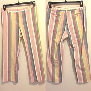 Boden Striped Capri Pants 14L Cropped